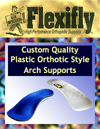 The Flexifly line of orthotic style arch supports