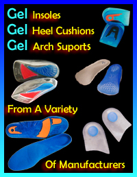 Gel arch supports gel heel cushions and gel insoles