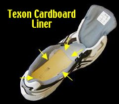 shoe with Texon cardboard liner