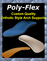 Poly-Flex collection of orthotic style arch supports