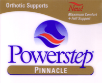 Powerstep orthotic arch supports Brand Logo