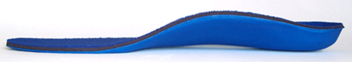 Powerstep Pinnacle orthotic arch supports, side view showing arch height