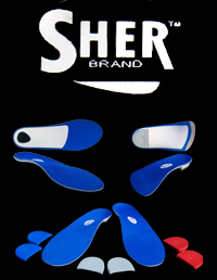 sher brand of unique specialty orthotic arch supports
