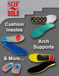 Sof Sole Arch Supports and Cushion Insoles
