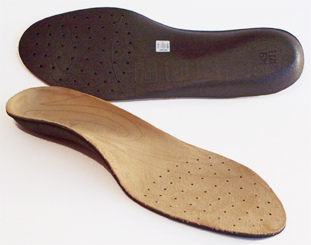 Sole Custom Footbed pair, one face up and one face down