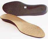 Sole Custom Footbed - dress pair, one face up and one face down