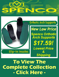 Spenco arch supports and cushion insoles