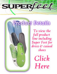 Superfeet insoles, footbeds & arch supports